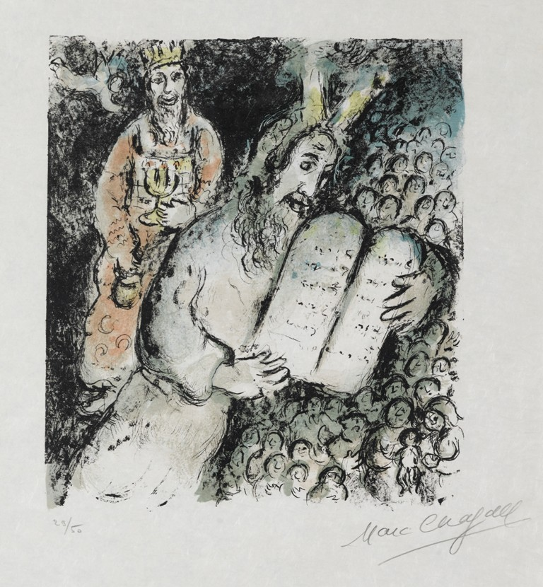 Marc Chagal. Moses and Aaron