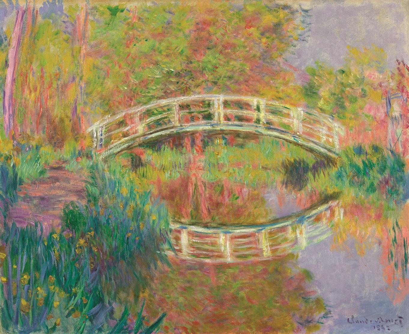 Клод Моне. Японский мостик в Живерни. 1895.