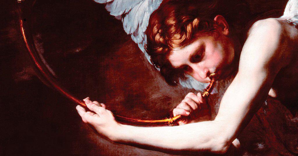 """Хусепе де Рибера. Деталь картины """"Святой Иероним и ангел cуда"""" 1626 г."""