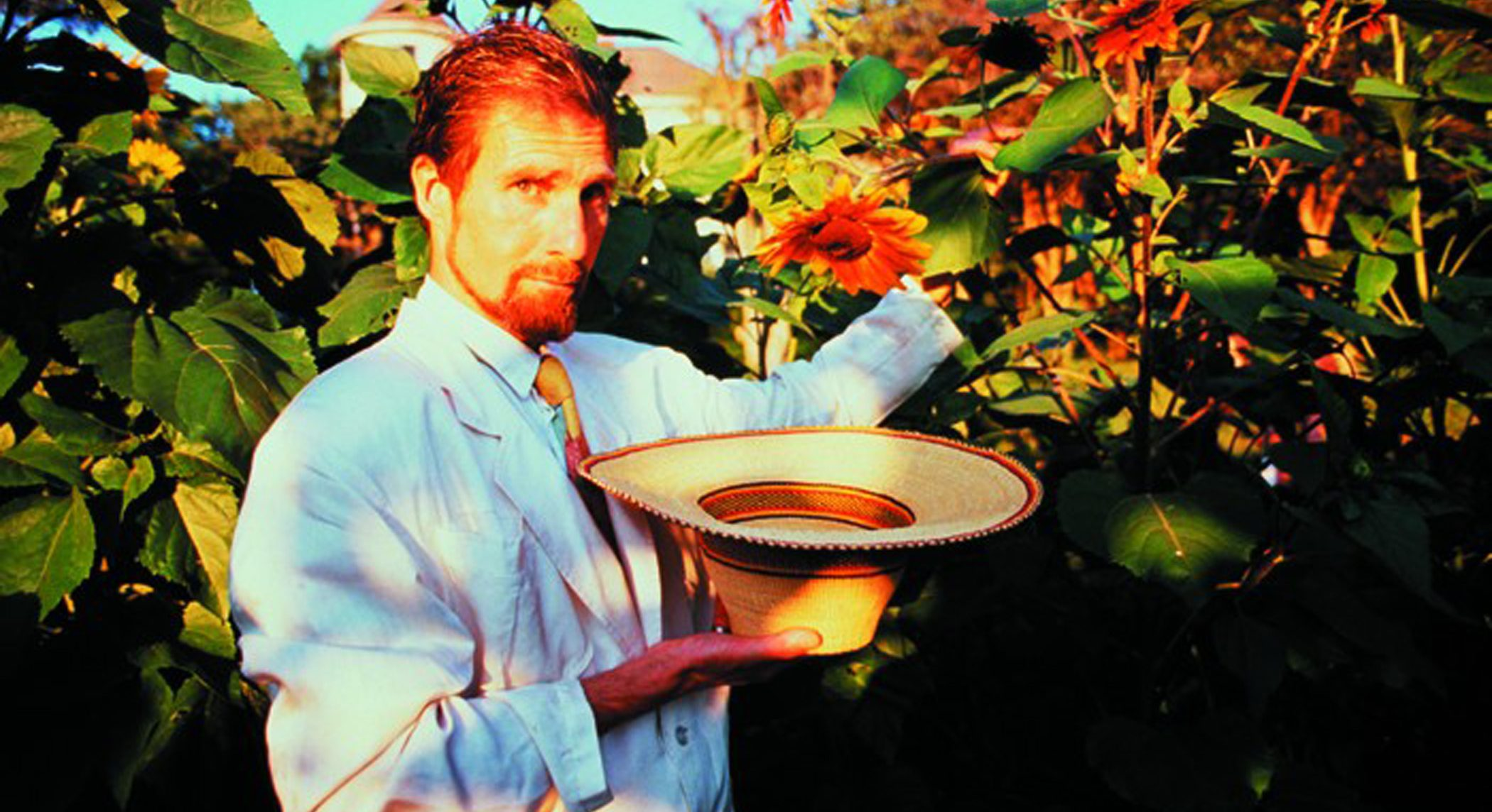 MP with sunflowers Photo By Jack Vartoogian