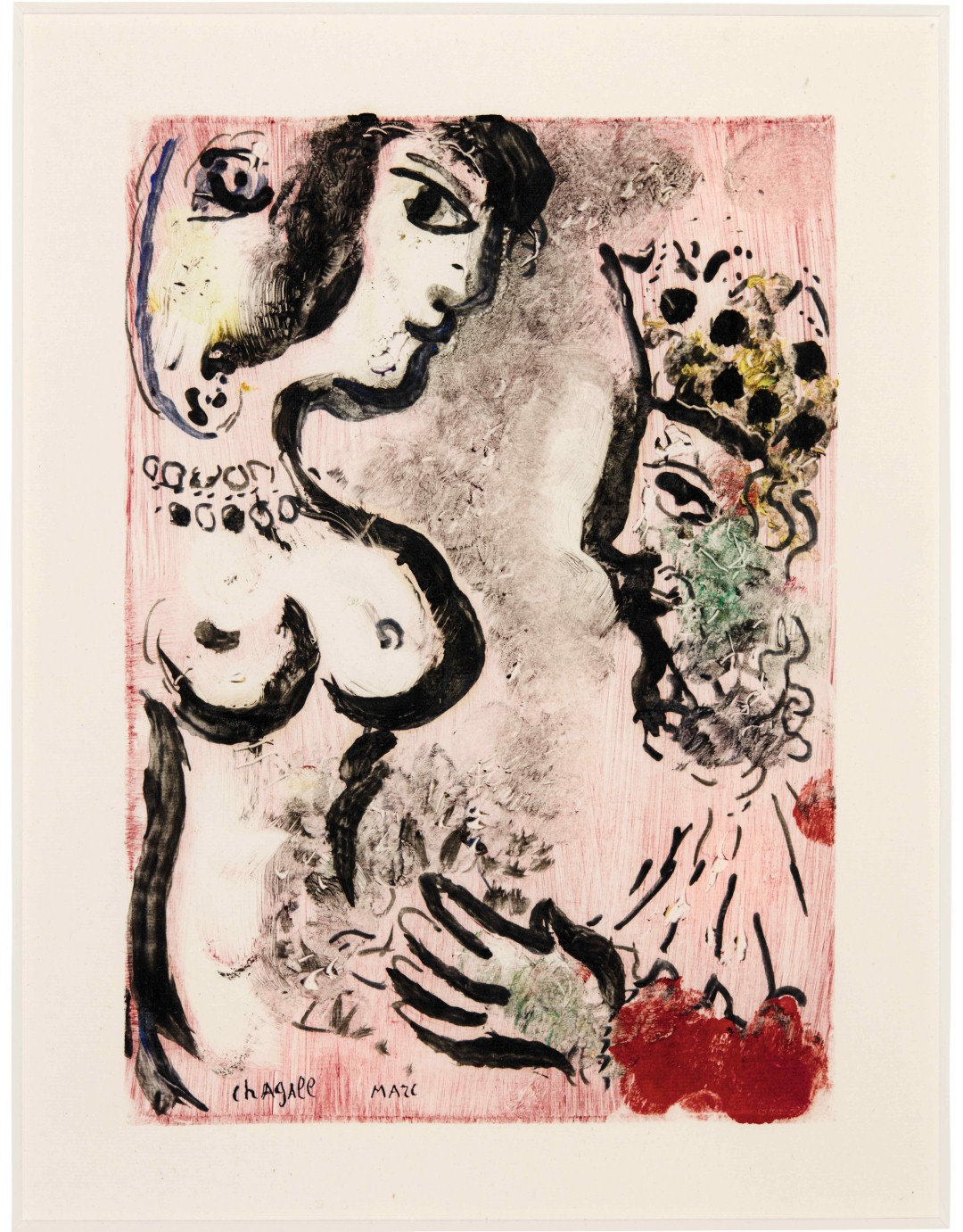 Marc Chagall. Le Bouffon, 1965, monotype, 38,5×30 cm