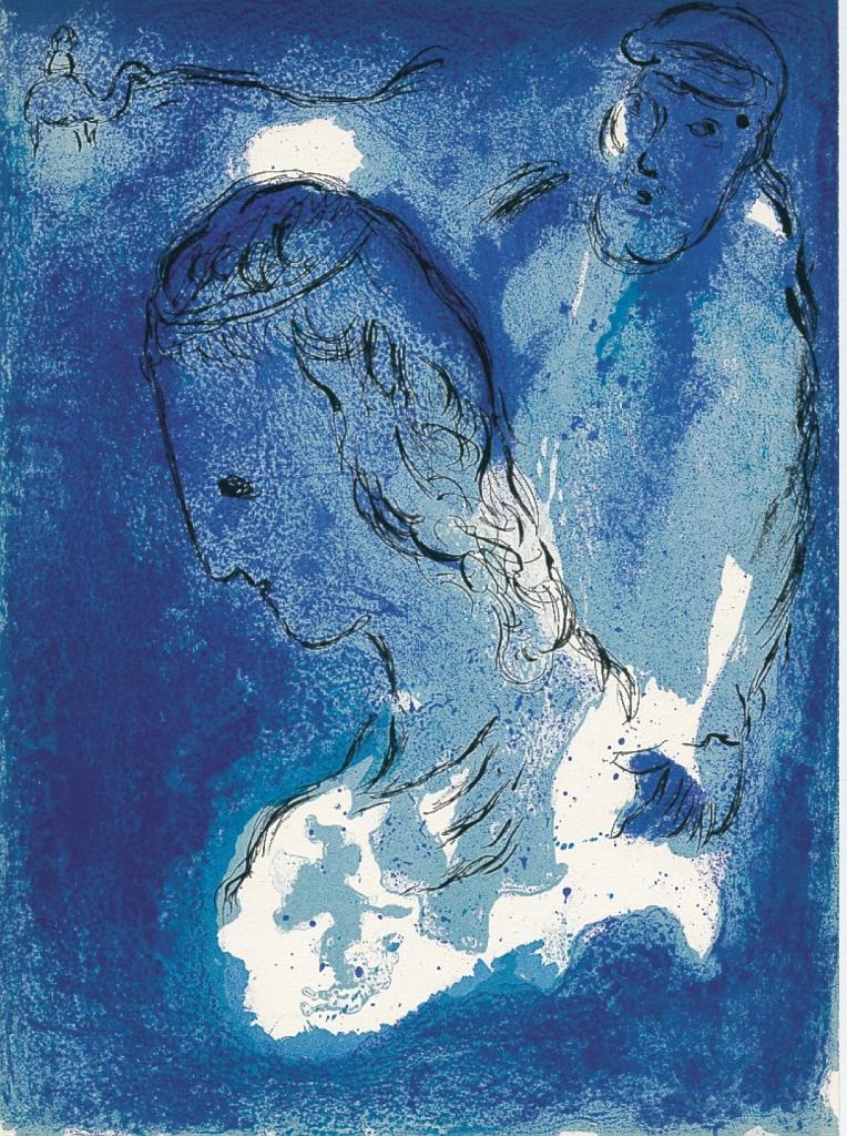 Marc Chagall, Abraham and Sarah